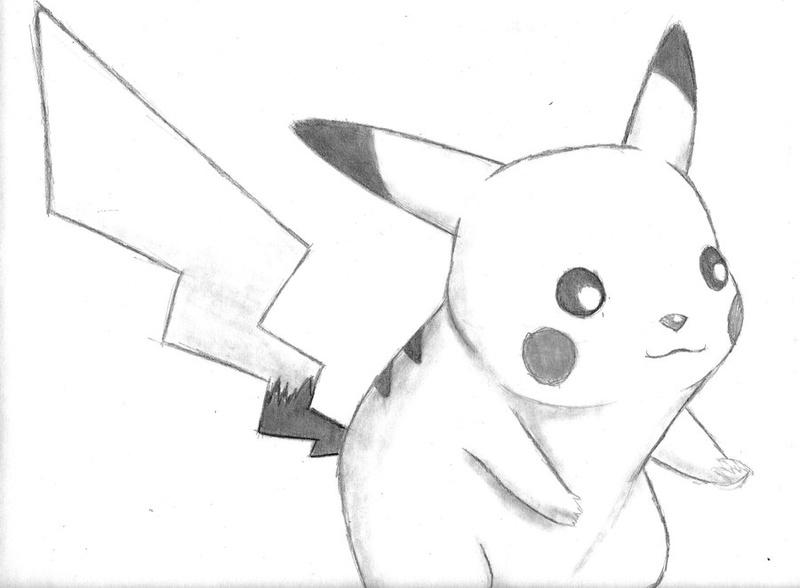 Пикачу рисунки карандашом